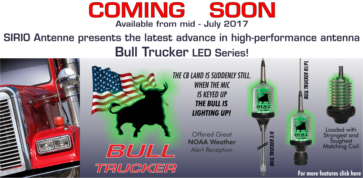 "June 2017: Sirio ""Bull Series"" hit the market soon!"