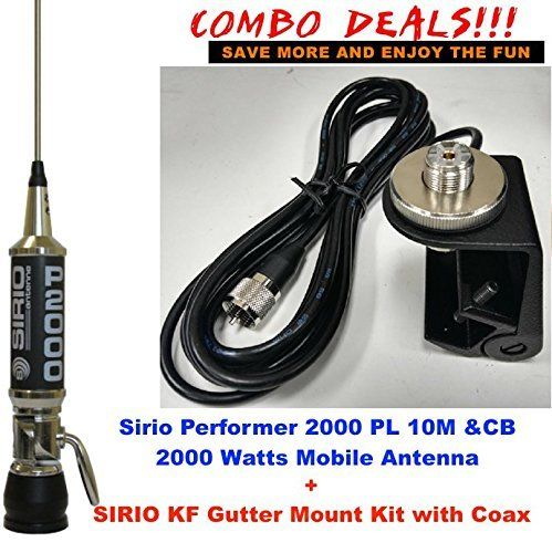 Sirio Performer 2000 PL 10M/CB Mobile antenna Gutter Mount Kit