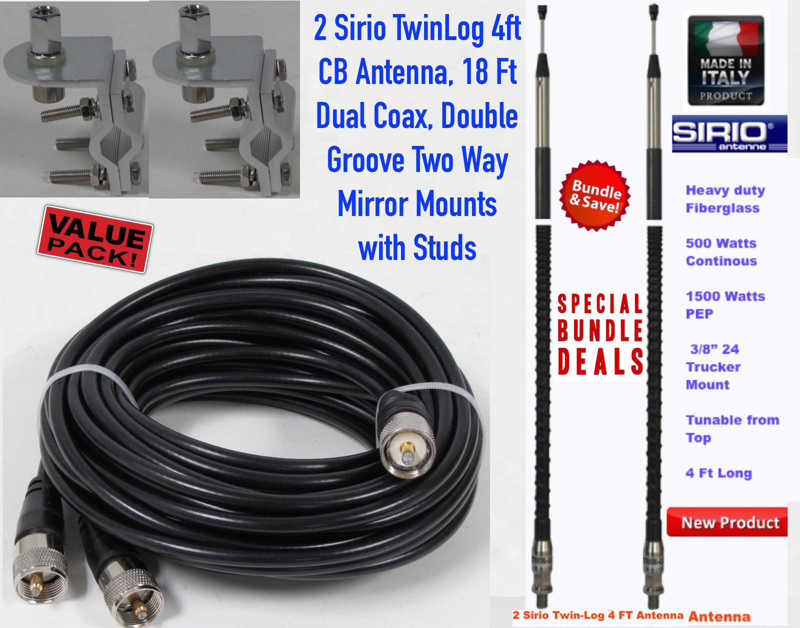 CB Antenna Kit : Sirio Antenna, High Performance Antenna