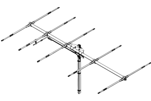 Sirio 50-54Mhz SY 50-5 6 meter Tunable 5 elements Yagi Antenna
