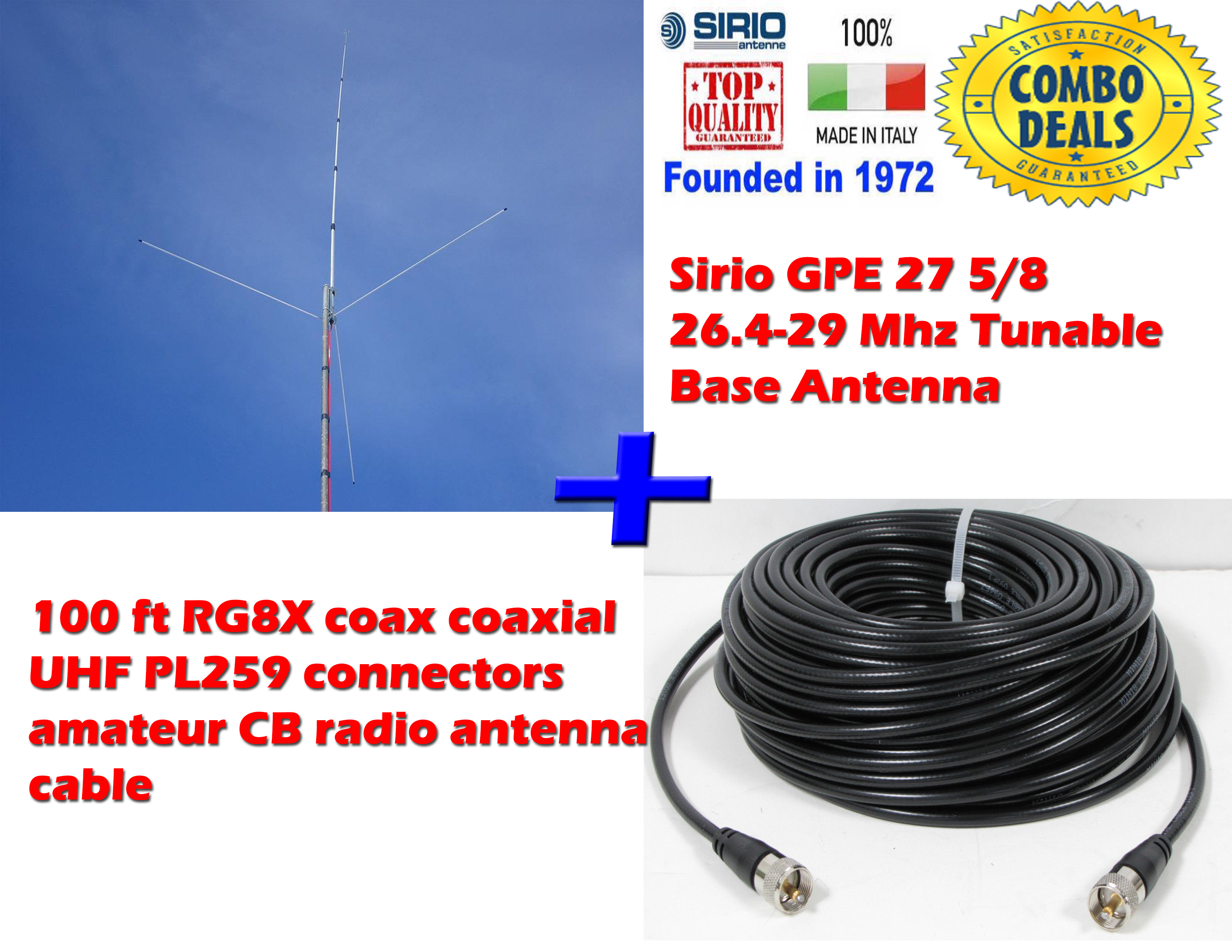 CB & 10M : Sirio Antenna, High Performance Antenna Made in Italy