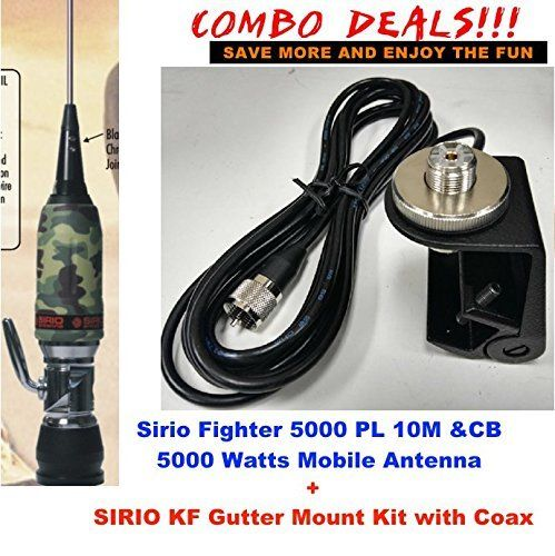 Sirio Fighter 5000 PL 10M/CB Mobile antenna Gutter Mount Kit