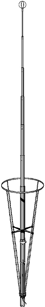 Sirio New Vector 4000 (27 - 28.5 mhz) Tunable Base Antenna